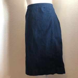 White House Black Market Denim Pencil Skirt 12